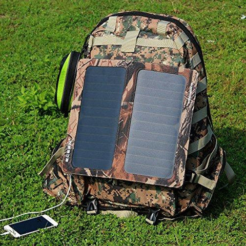 Image of ECEEN 13W Solar Charger Foldable Portable Solar Panel With Dual USB Output Charge For Iphones, Smartphones, Tablets, GPS Units, Bluetooth Speakers, Gopro Cameras, And Other 5V USB-Charged Devices