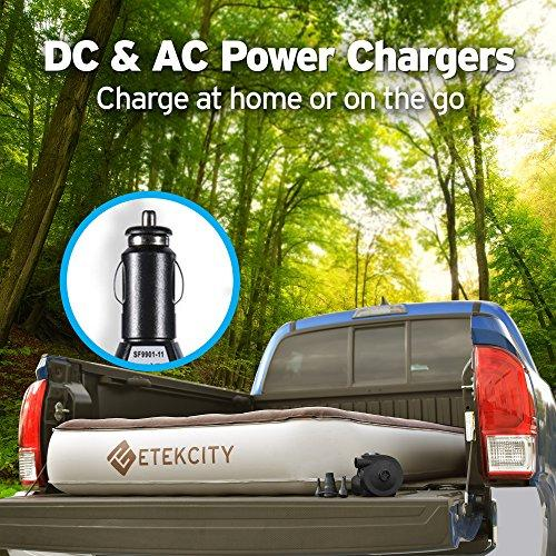 "Etekcity Camping Portable Air Mattress Inflatable Single High Airbed Blow Up Guest Bed Tent Mattress With Rechargeable Pump, Height 9"", Twin/Queen Size, 2 Free Lanterns"