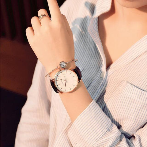 Image of Exquisite Simple Style Women Watches Luxury Fashion Quartz Wristwatch