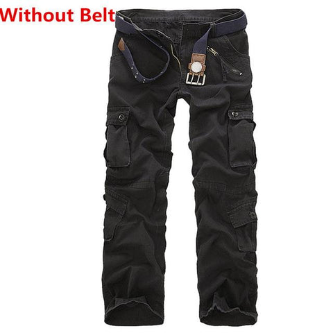 Image of Facecozy Men Tactical Military Sports Pant Male Outdoor Multi-pockets Hiking Loose Style Trouser