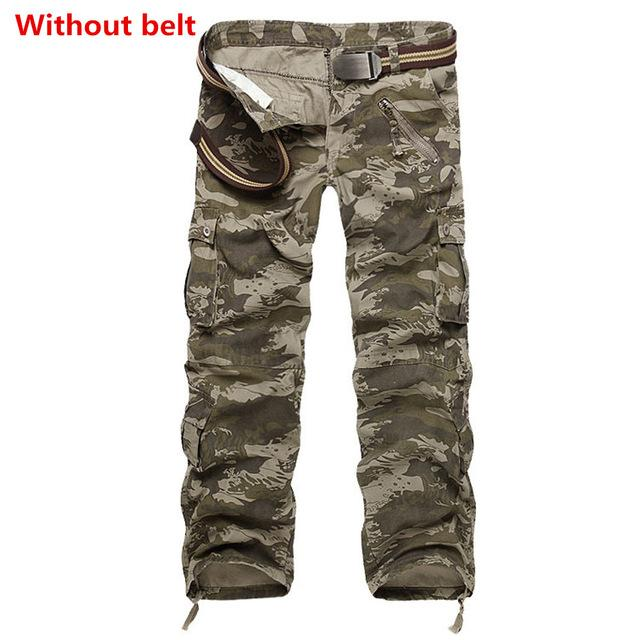 Facecozy Men Tactical Military Sports Pant Male Outdoor Multi-pockets Hiking Loose Style Trouser