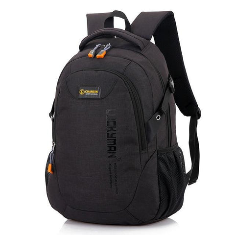 Image of Fashion Men's Backpack Bag Polyester Laptop Backpack Computer Bags High School Student College Students Bag