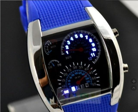 Fashion Men's Watch Unique LED Digital Watch Men Wrist Watch Electronic Sport Watches Clock Reloj Hombre Relogio Masculino