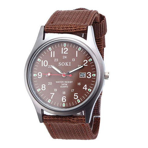 Image of Fashion Military Classics Mens Watch Quartz Analog Canvas Band Casual Sports Watch Watches Mens Watches Top Brand Luxury New 2#