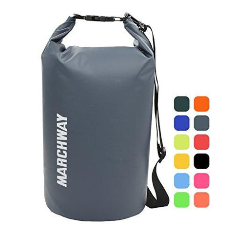 Image of Floating Waterproof Dry Bag Backpack 5L/10L/20L/30L/40L, Roll Top Sack Pack Keeps Gear Dry For Kayaking, Rafting, Boating, Swimming, Camping, Hiking, Beach, Fishing (Grey, 30L)