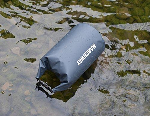 Floating Waterproof Dry Bag Backpack 5L/10L/20L/30L/40L, Roll Top Sack Pack Keeps Gear Dry For Kayaking, Rafting, Boating, Swimming, Camping, Hiking, Beach, Fishing (Grey, 30L)