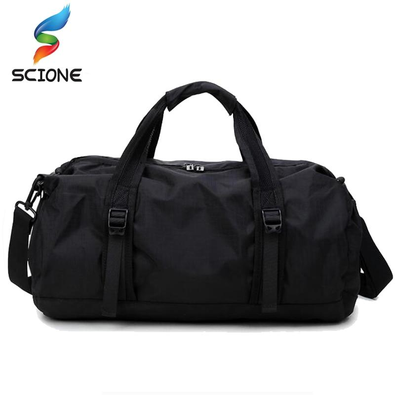 Foldable Lightweight Sports Bag Travel Gear Waterproof Large Space Hand Duffel Gym Bag Men For Fitness