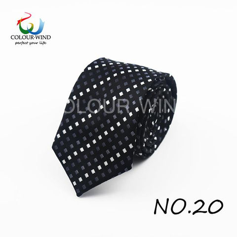 Image of Formal Ties For Men Classic Polyester Woven Plaid Dots Party Necktie Fashion Slim 6CM Wedding Business Male Casual