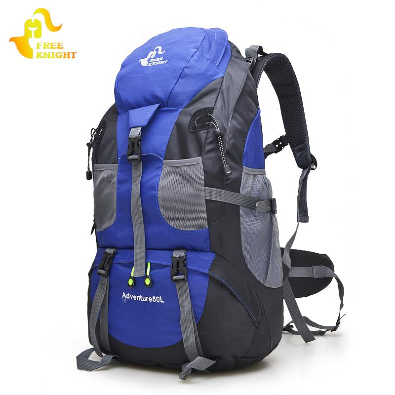 Free Knight 50L Outdoor Hiking Bag, 5 Colors Waterproof Tourist Travel Mountain Backpack, Trekking Camping Climbing Sport Bags