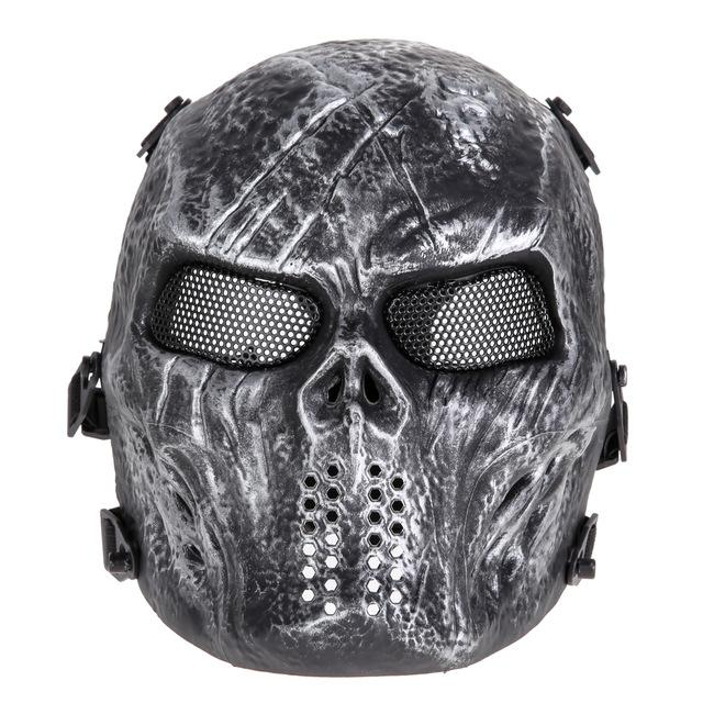 Full Face Mask Army Outdoor Tactical Paintball Mask Skull Mask Full Face Protection Breathable Eco-friendly Mask