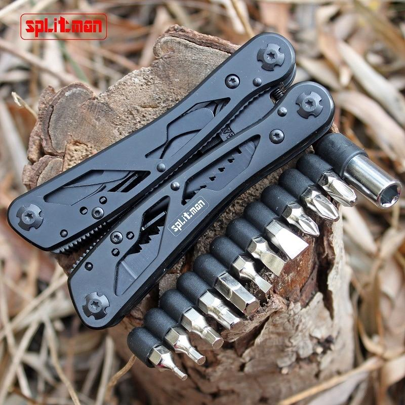 G202B Multi Tools Folding Plier Fishing Camping Outdoor Survival EDC Gear Multitool Pocket Knife Plier Scissors Screwdriver Bits