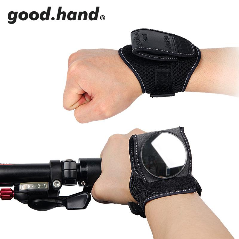 GOOD HAND Bike Back Mirror Cycling Wrist Band Strap Reflex Rear View Arm Wrist Cycling Gloves With Bike Mirrors