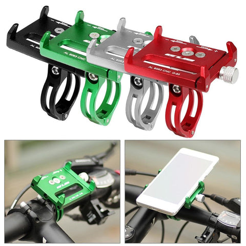 Image of GUB G85 G83 Aluminum MTB Bike Bicycle Phone Holder Motorcycle Support GPS Holder For Bike Handlebar Bike Accessories 4 Colors