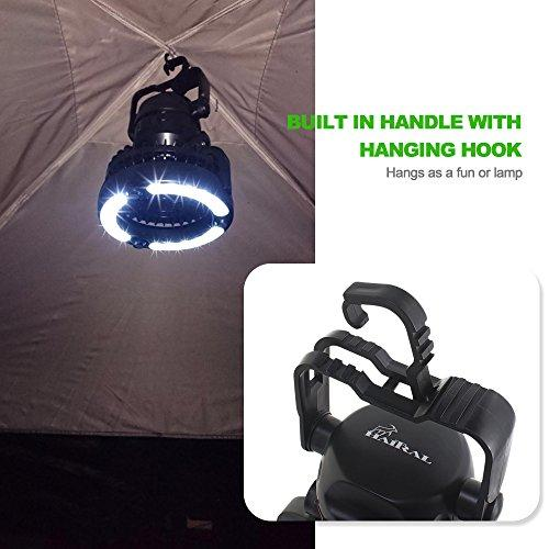HAITRAL 2-IN-1 LED Tent Light Fan Portable Camping Lantern With Ceiling Fan