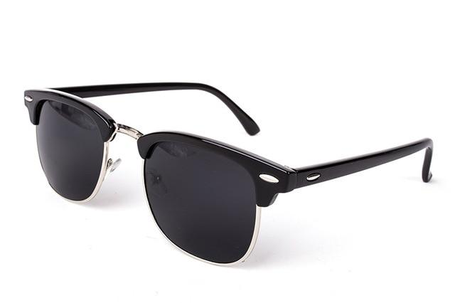 Half Metal High Quality Sunglasses Men Women Brand Designer Glasses Mirror Sun Glasses Fashion UV400 Classic