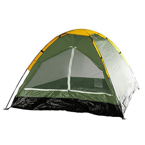 Happy Camper 2-Person Tent, Dome Tents For Camping With Carry Bag By Wakeman Outdoors (Camping Gear For Hiking, Backpacking, And Traveling) - GREEN