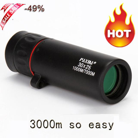 Image of HD 30x25 Monocular Telescope Binoculars Zooming Focus Green Film Binoculor Optical Hunting High Quality Tourism Scope