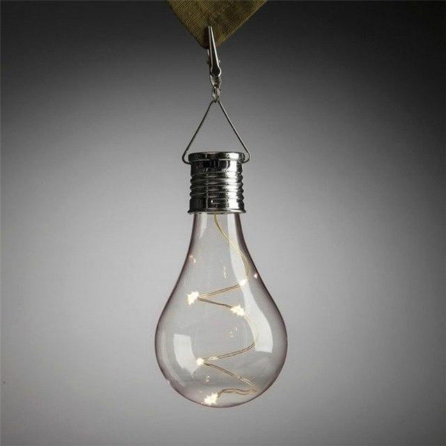 High Quality Waterproof Solar Rotatable Outdoor Garden Camping Hanging LED Light Lamp Bulb