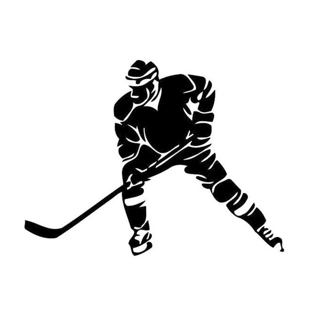 Hockey Player Vinyl Switch Sticker Decoration Room Home Wall Decal