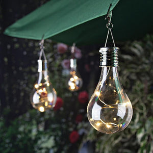 Home Garden Solar Light Bulb Waterproof Solar Rotatable Outdoor Garden Camping Hanging LED Light Lamp Bulb Decoration Light