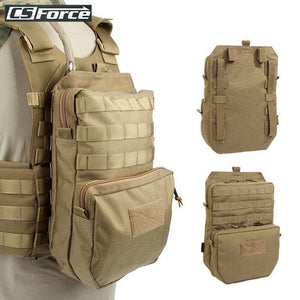 Hydration Pouch Modular Webbing MOLLE For 3L Water Bag Durable H2O Pouch Attached To Tactical Vest Hydration Backpack