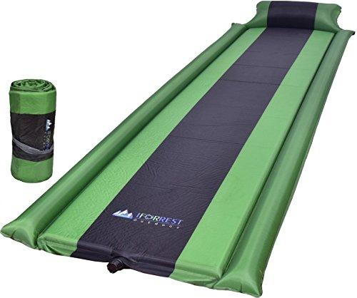 IFORREST Sleeping Pad With Armrest & Pillow - Self Inflating Sleeping Pad Is Ideal For Camping Hiking - Camping Pad - Never Let Your Arms & Foot Feel The Ground - Inflatable Air Mat