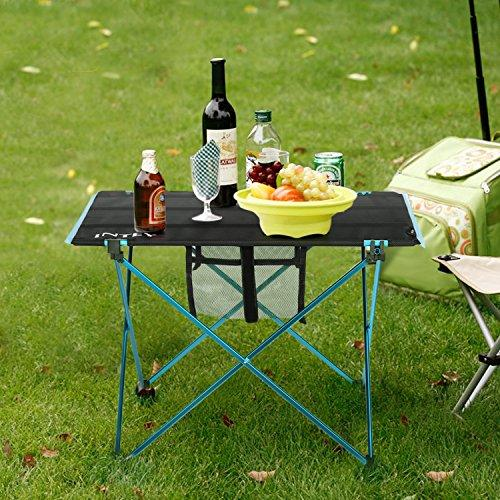 INTEY Ultralight Folding Table Camping Picnic Table Portable Roll Up Table With Carrying Bag (Large)