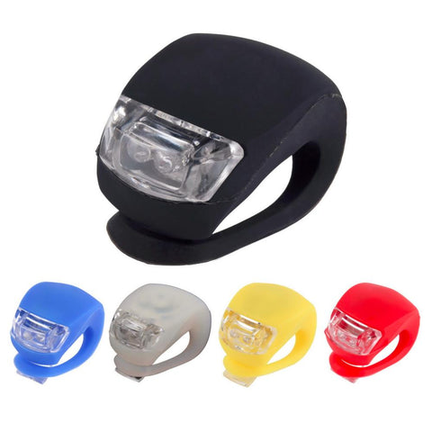 Image of LED Bike Lights Silicone Bicycle Light Head Front Rear Wheel LED Flash Lamp Waterproof Cycling Front LED Light With Battery