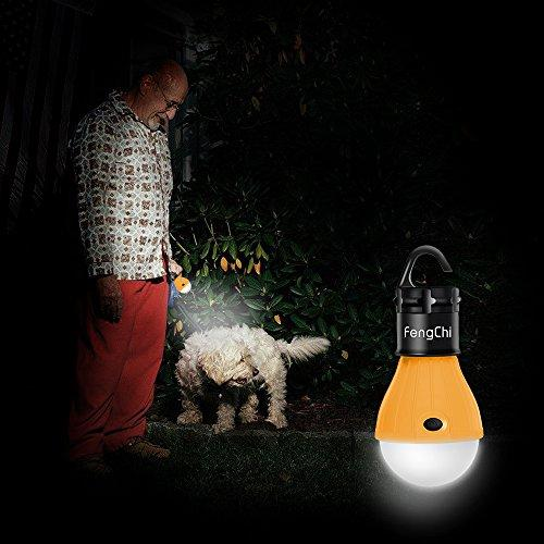 LED Camping Lantern, FengChi[3 PACK] Portable Outdoor Tent Light Emergency Light Bulb For Camping, Hiking, Fishing,Hurricane, Storm, Outage