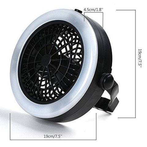 Image of LED Lantern, ODOLAND Bright Portable LED Camping Lantern Flashlights With Ceiling Fan, Camping Gear Equipment For Outdoor Hiking, Camping Supplies, Emergencies, Hurricanes, Outages