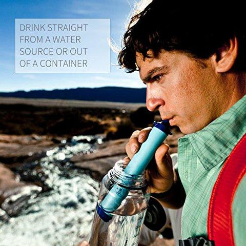 Image of LifeStraw Personal Water Filter For Hiking, Camping, Travel, And Emergency Preparedness