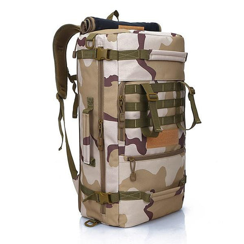 LOCAL LION Men's Military Tactical Backpack Camping  Mountaineering Backpack Men's Hiking Rucksack Travel Backpack 50L