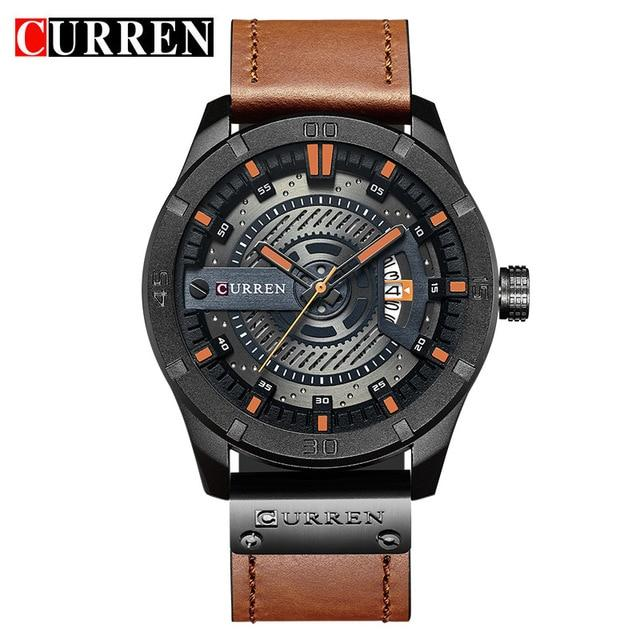 Luxury Brand CURREN Men Military Sports Watches Men's Quartz Date Clock Man Casual Leather Wrist Watch Relogio Masculino