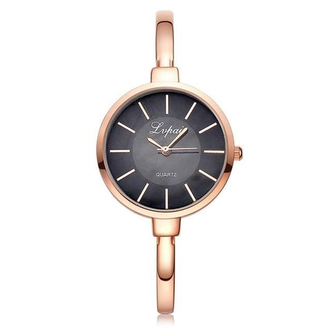 Image of Lvpai Rose Gold Women Bracelet Watches Fashion Luxury Quartz-Watches Brand Ladies Casual Dress Sport Watch Clock