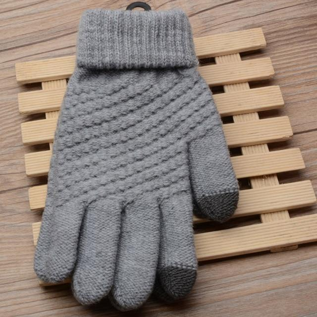 Magic Touch Screen Sensory Gloves For Women Gloves Girl Female Stretch Knit Gloves Mittens Winter Warm Accessories Wool