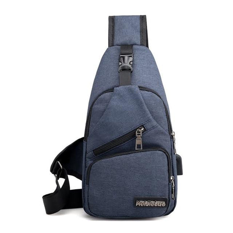 Image of Male Shoulder Bags USB Charging Crossbody Bags Men Anti Theft Chest Bag School Summer Short Trip Messengers Bag
