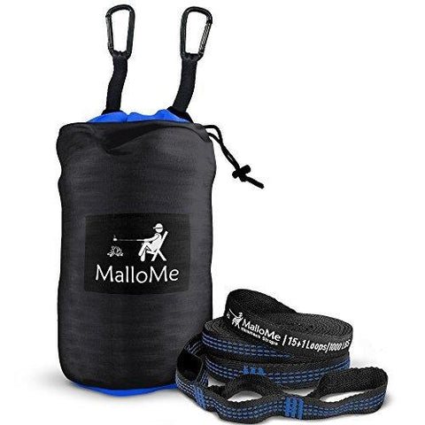 Image of MalloMe Double Portable Camping Hammock - 27 Colors - Heavy Duty Tree Straps Included In Most Colors
