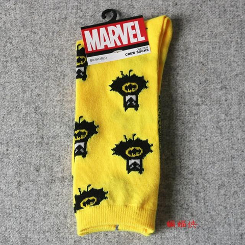 Image of Marvel Comics Hero General Socks Cartoon Iron Man Captain America Knee-High Warm Stitching Pattern Antiskid Casual Sock