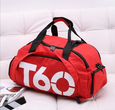 Image of Men Gym Bag Backpack Women Fitness Travel Handbag Outdoor Separate Space For Shoes Sac Sports Bag A Bag Male Women's Bags Sport