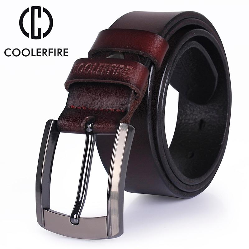 Men High Quality Genuine Leather Belt Luxury Designer Belts Men Cowskin Fashion Strap Male Jeans For Man Cowboy