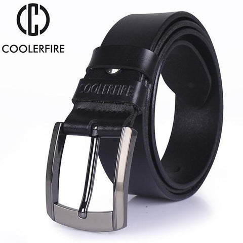 Image of Men High Quality Genuine Leather Belt Luxury Designer Belts Men Cowskin Fashion Strap Male Jeans For Man Cowboy