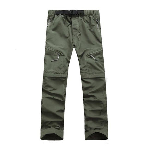 Image of Men's Quick Dry Removable Hiking Pants Outdoor Sport Summer  Breathable Trousers Camping Trekking Fishing Shorts