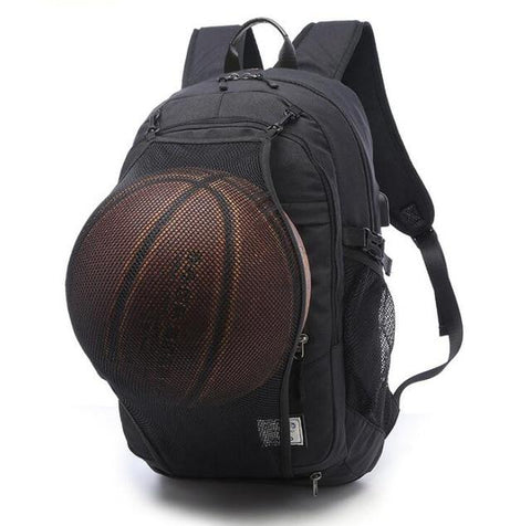 Image of Men's Sports Gym Bags Basketball Backpack School Bags For Teenager Boys Soccer Ball Pack Laptop Bag Football Net Fitness Bag