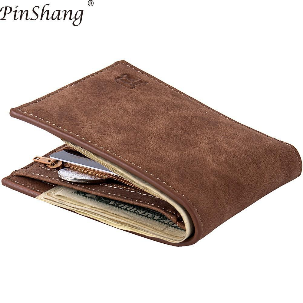 Men Wallets With Coin Bag Zipper Small Money Purses New Design Dollar Slim Purse Money Clip Z30
