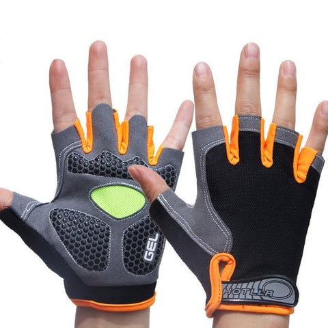 Image of Men & Women's Sports 3D Gel Padded Anti-Slip Gloves Gym Fitness Weight Lifting Body Building Exercise Training Workout Crossfit