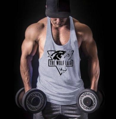 Mens Tank Top Shirt Gym Bodybuilding Tank Top Fitness Clothing