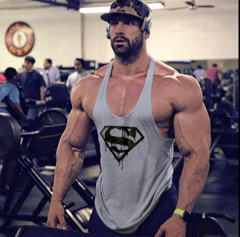 Image of Mens Tank Top Shirt Gym Bodybuilding Tank Top Fitness Clothing