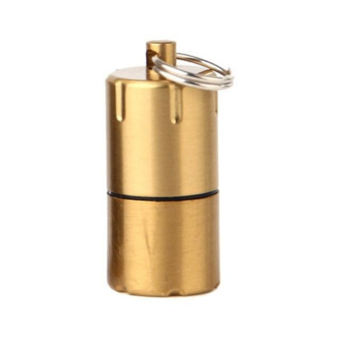 Image of Mini Compact Kerosene Lighter Key Chain Capsule Gasoline Lighter Inflated Keychain Petrol Lighter Outdoor Tools
