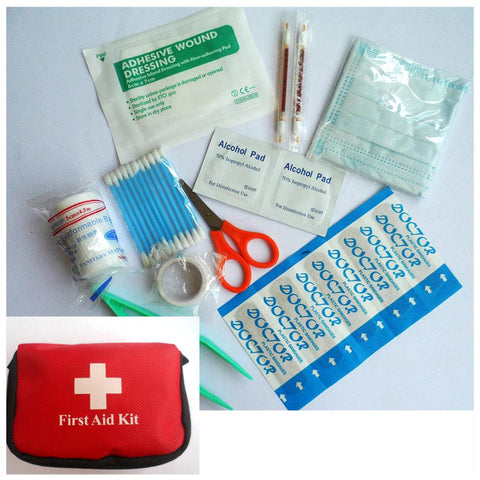 Image of Mini Outdoor Camping Hiking Survival Travel Emergency First Aid Kit Bag