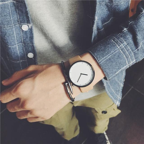 Image of Minimalist Stylish Men Quartz Watches New Fashion Simple Black Clock BGG Brand Male Wristwatches Gifts